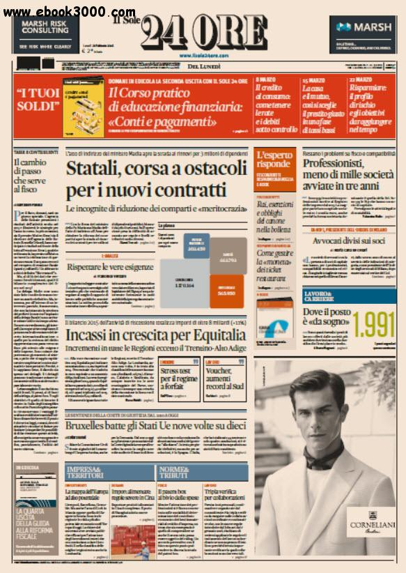 Il Sole 24 Ore - 29.02.2016 free download