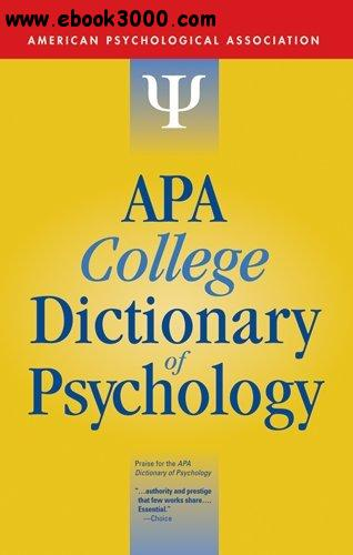 APA College Dictionary of Psychology free download