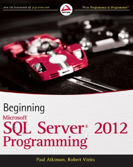 Beginning Microsoft SQL Server 2012 Programming free download