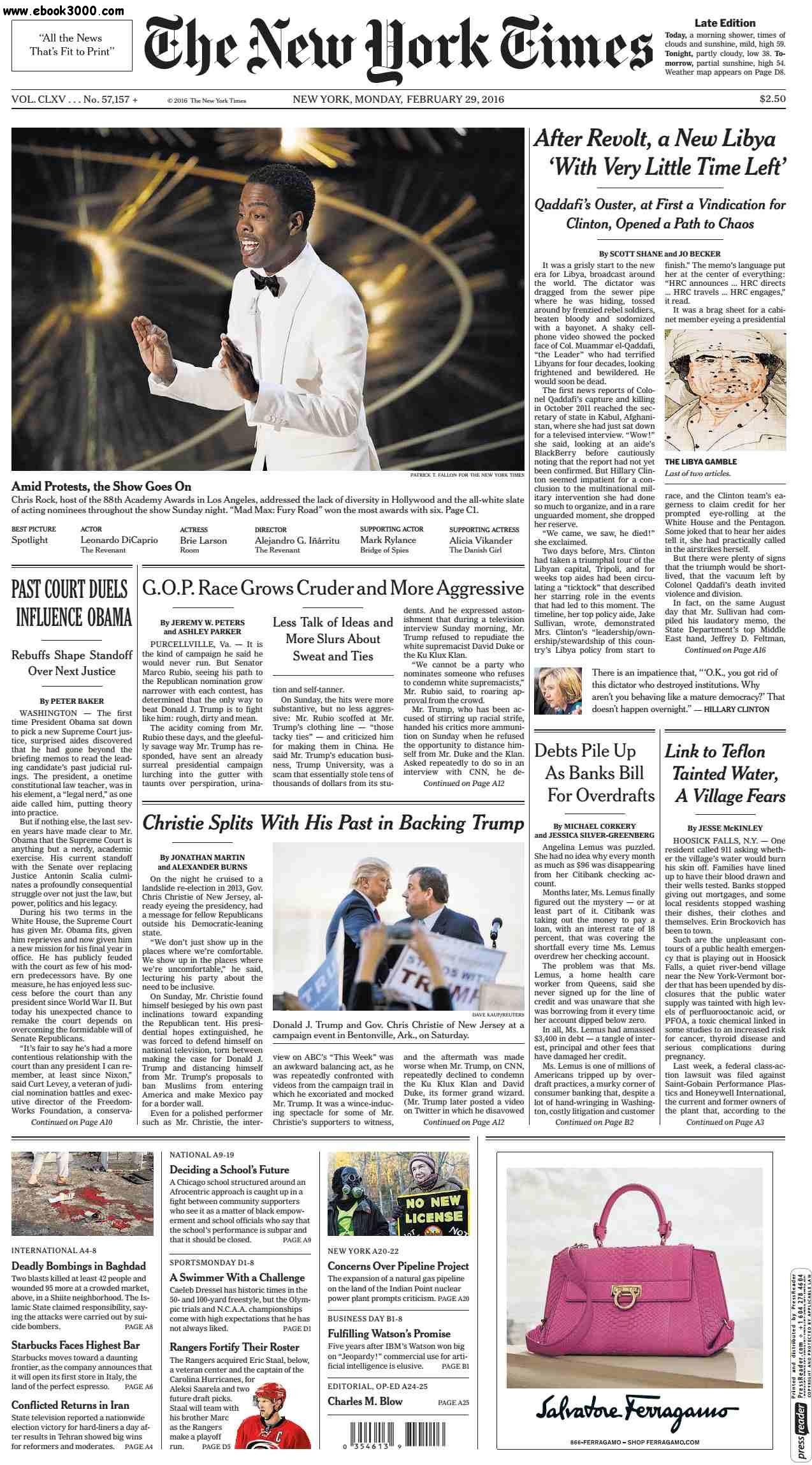 The New York Times February 29 2016 free download