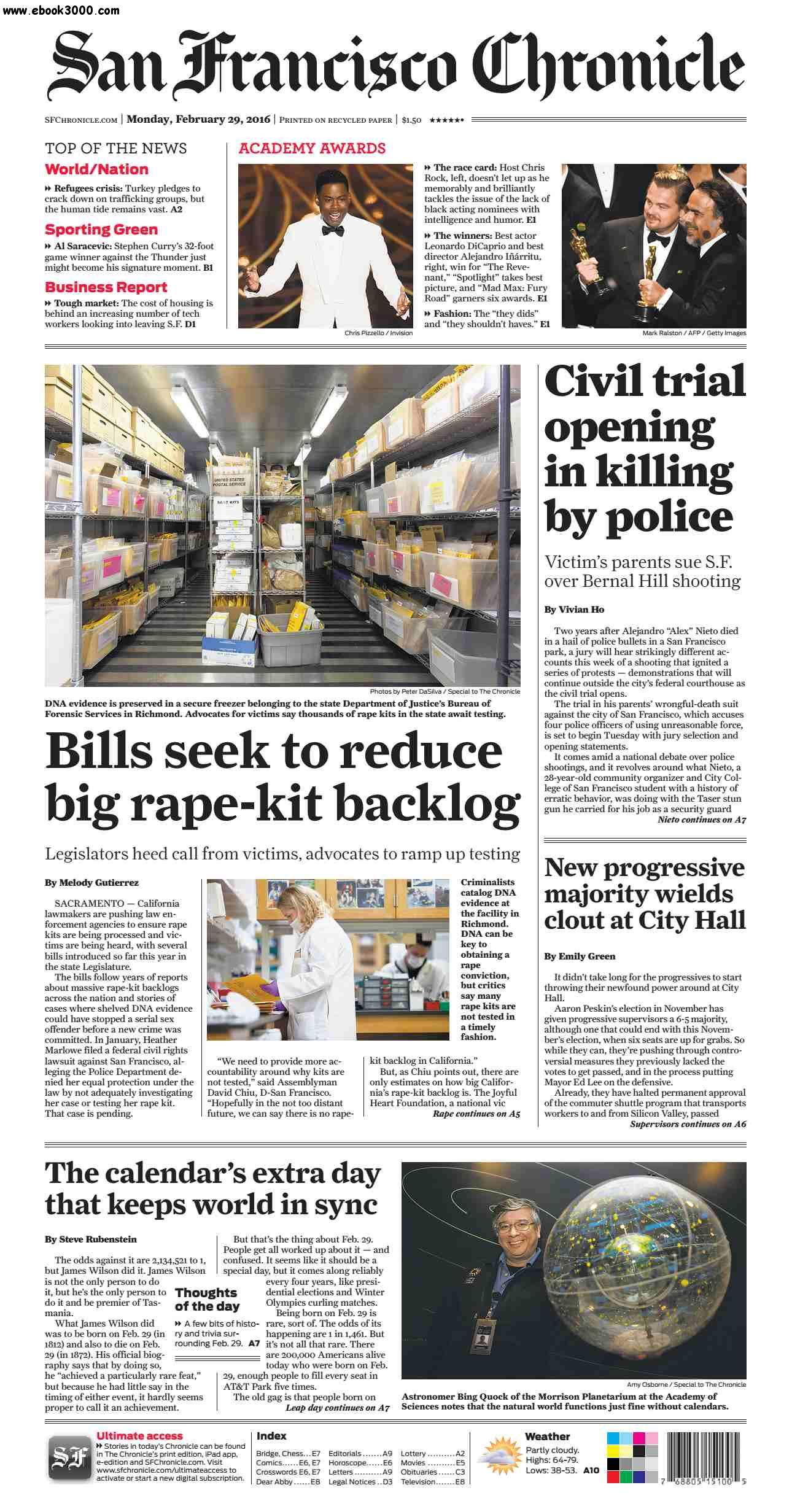 San Francisco Chronicle February 29 2016 free download