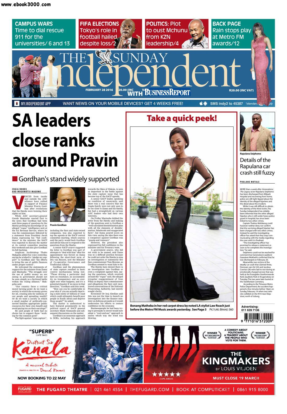 The Sunday Independent - 28 February 2016 free download
