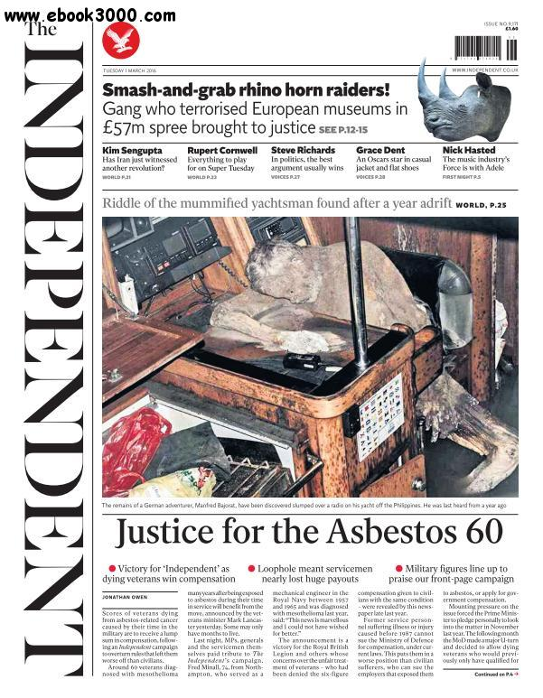 The Independent - 1 March 2016 free download