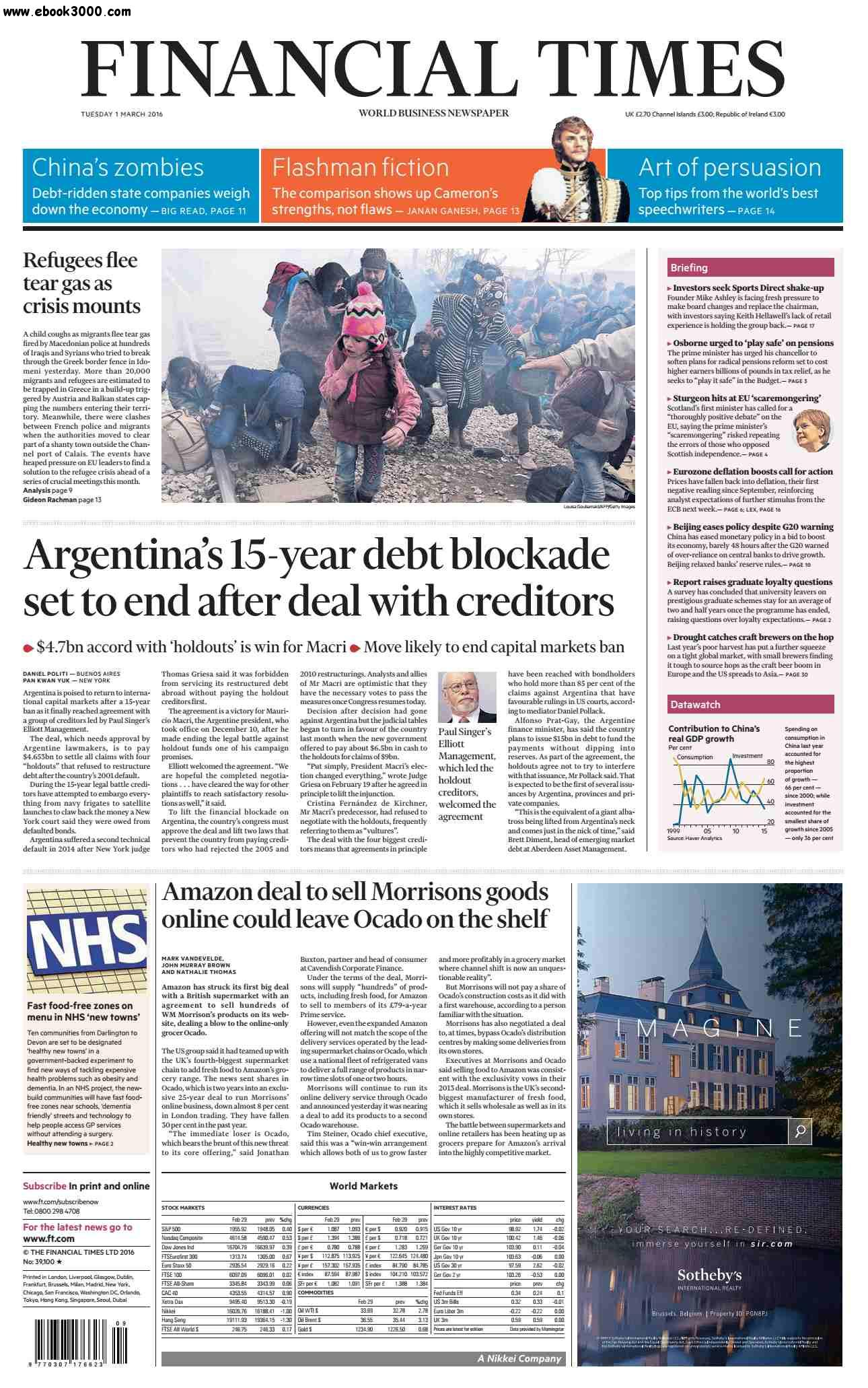 Financial Times UK March 01 2016 free download