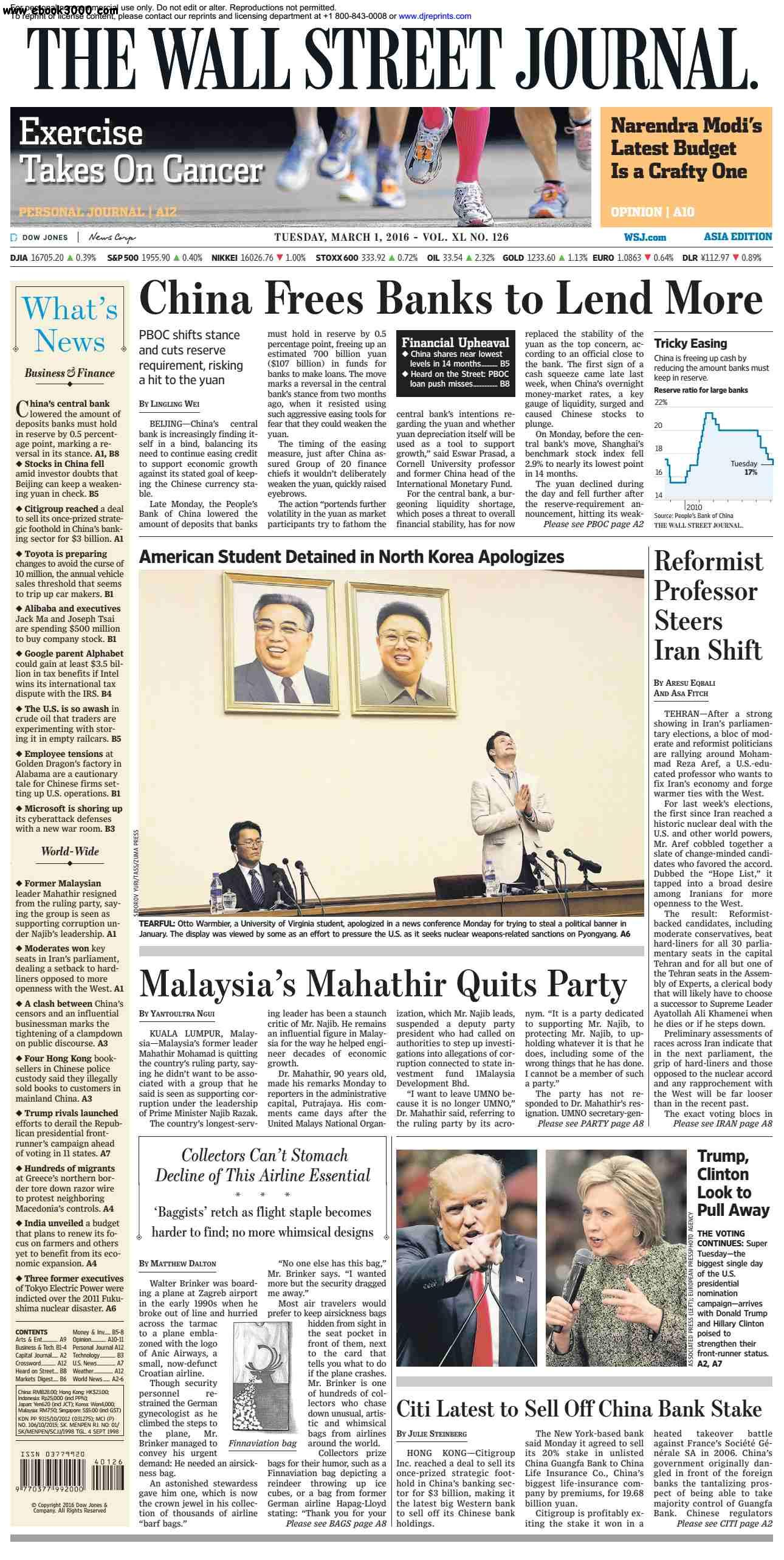 The Wall Street Journal Asia March 01 2016 free download