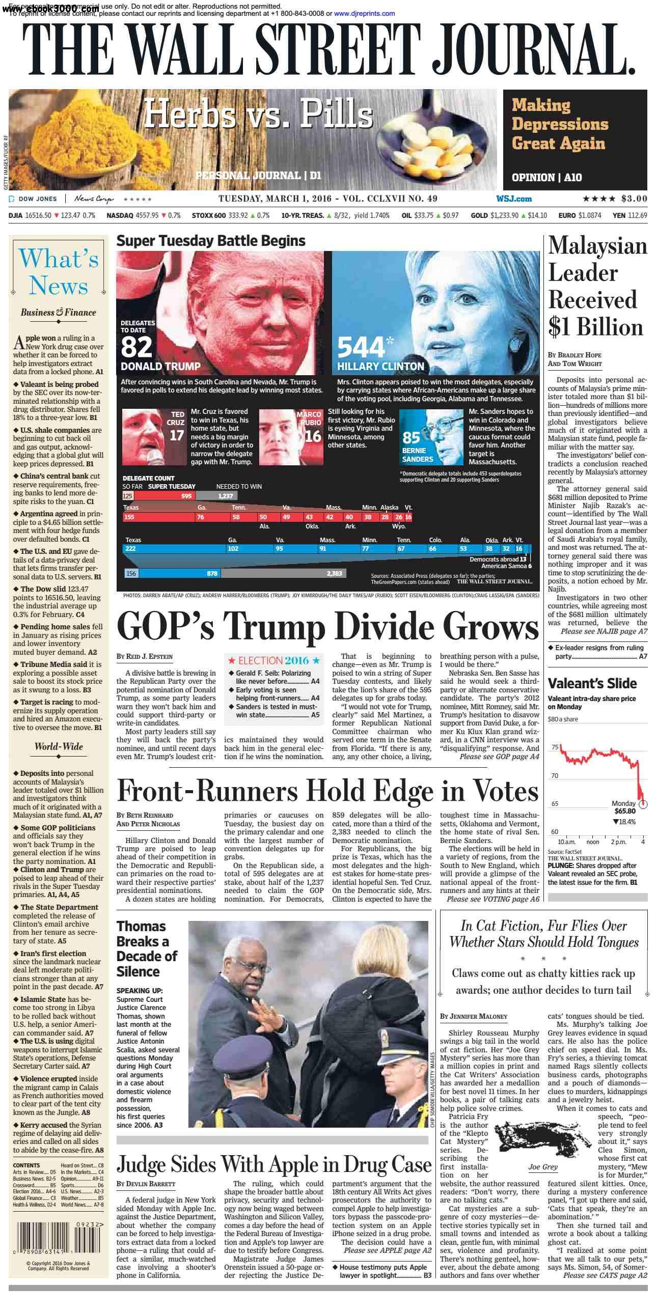 The Wall Street Journal March 01 2016 free download