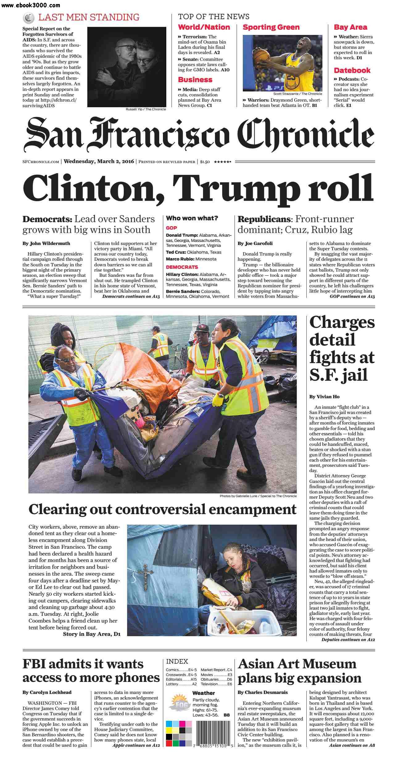 San Francisco Chronicle March 02 2016 free download