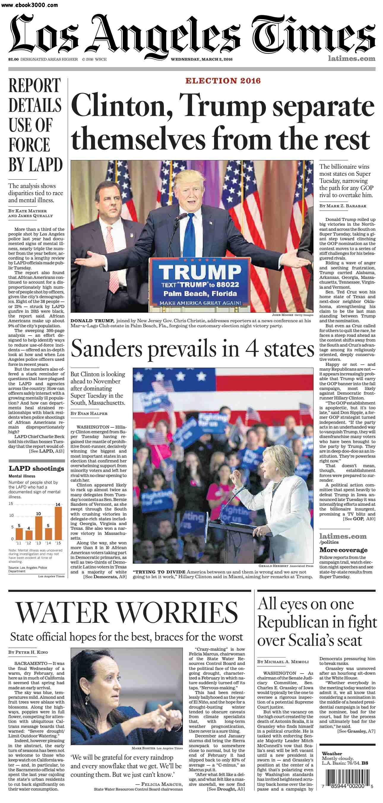 Los Angeles Times  March 02, 2016 free download