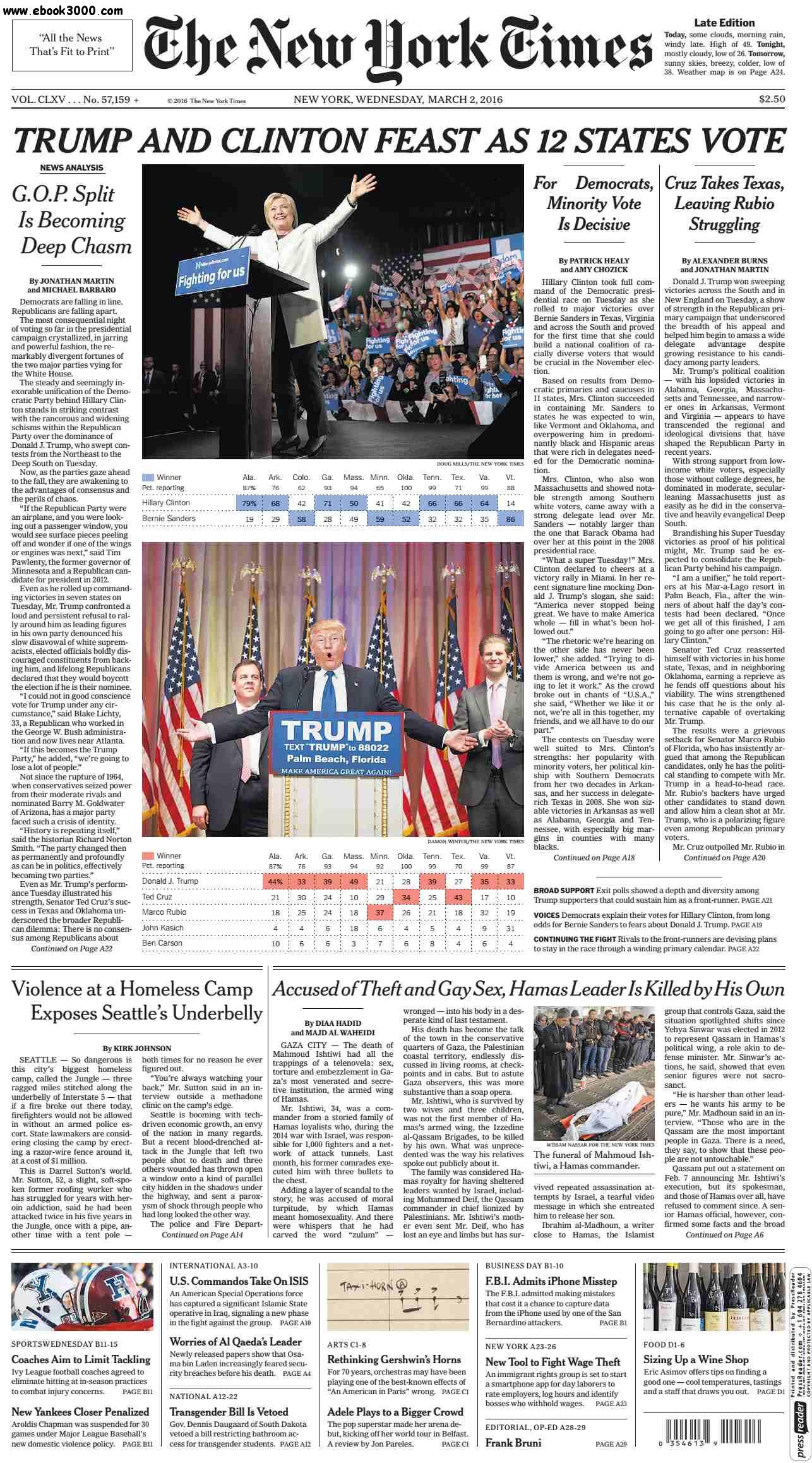 The New York Times  March 02 2016 free download