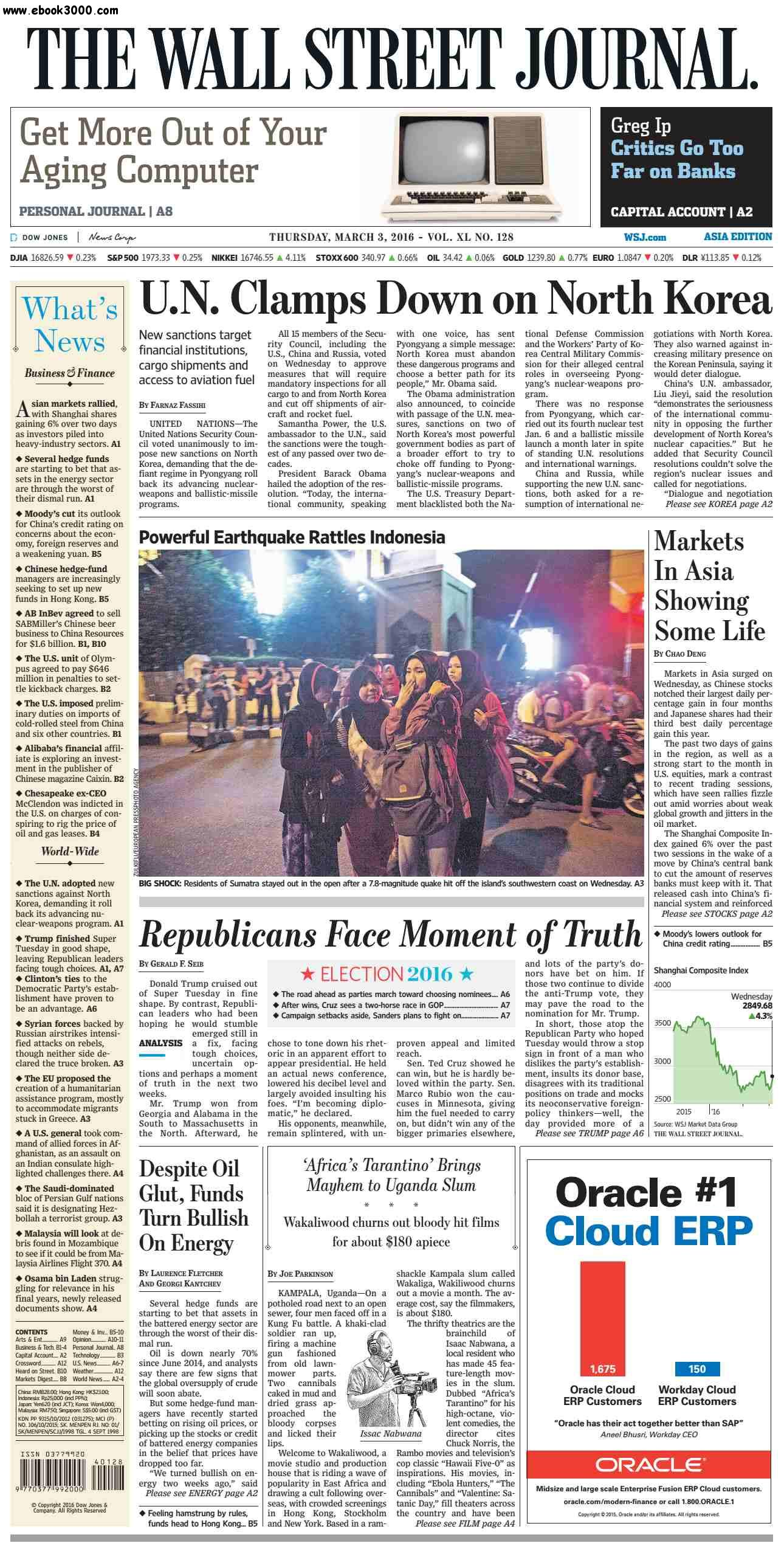 The Wall Street Journal Asia March 03 2016 free download