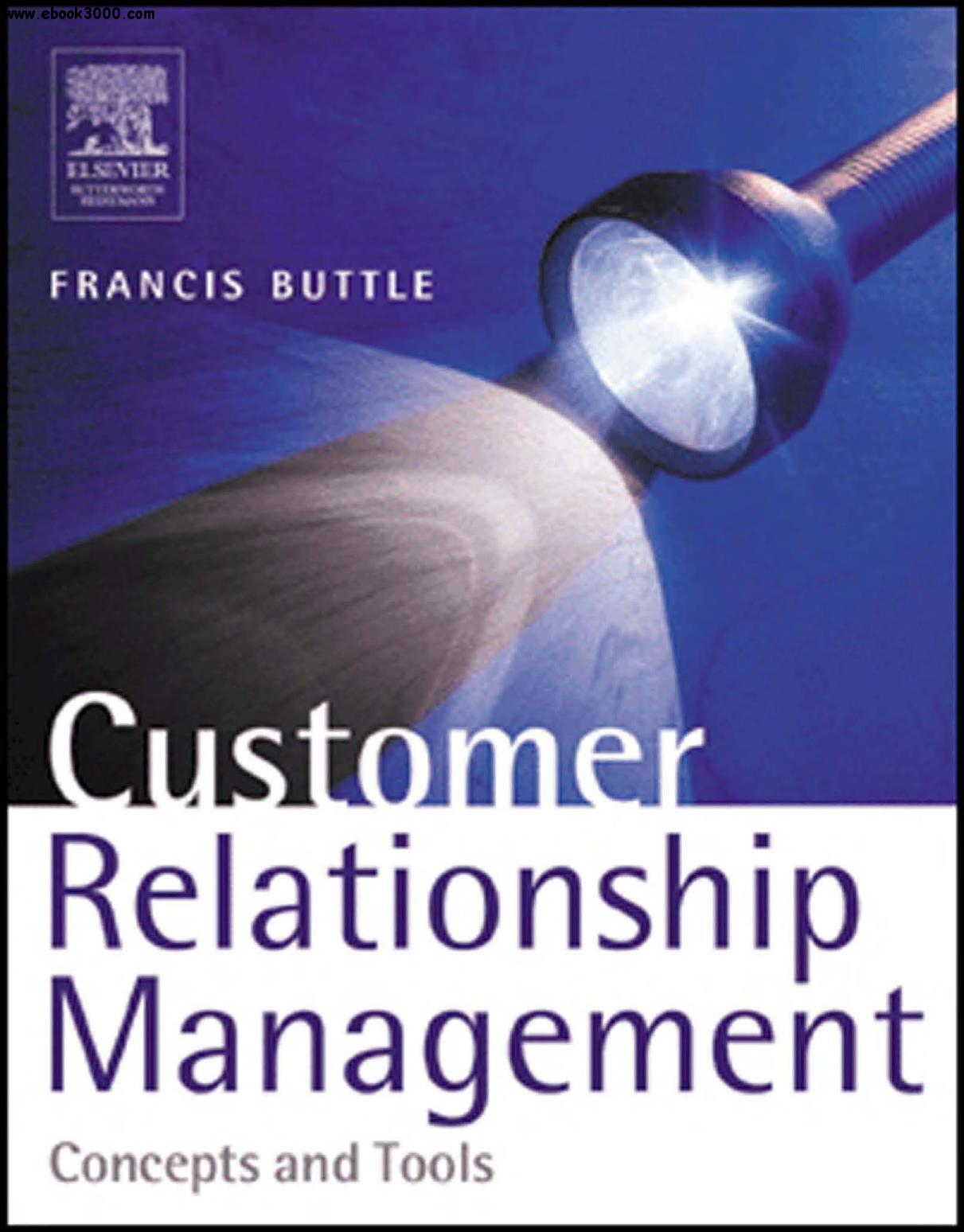 customer relationship management concepts and tools buttle pdf