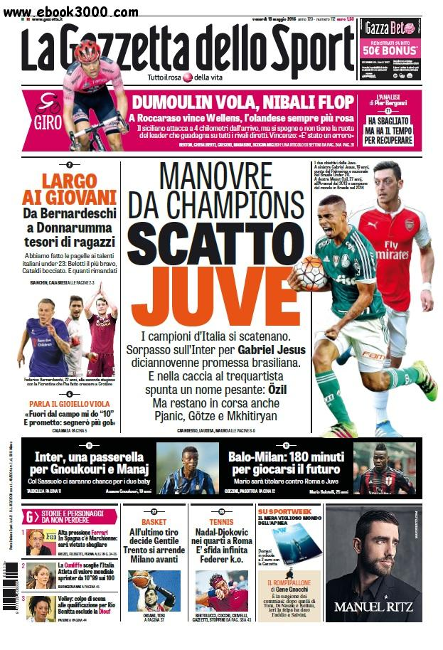 la gazzetta dello sport 13 maggio 2016 free ebooks download. Black Bedroom Furniture Sets. Home Design Ideas
