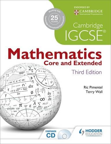 Cambridge IGCSE Mathematics: Core & Extended, 3rd edition