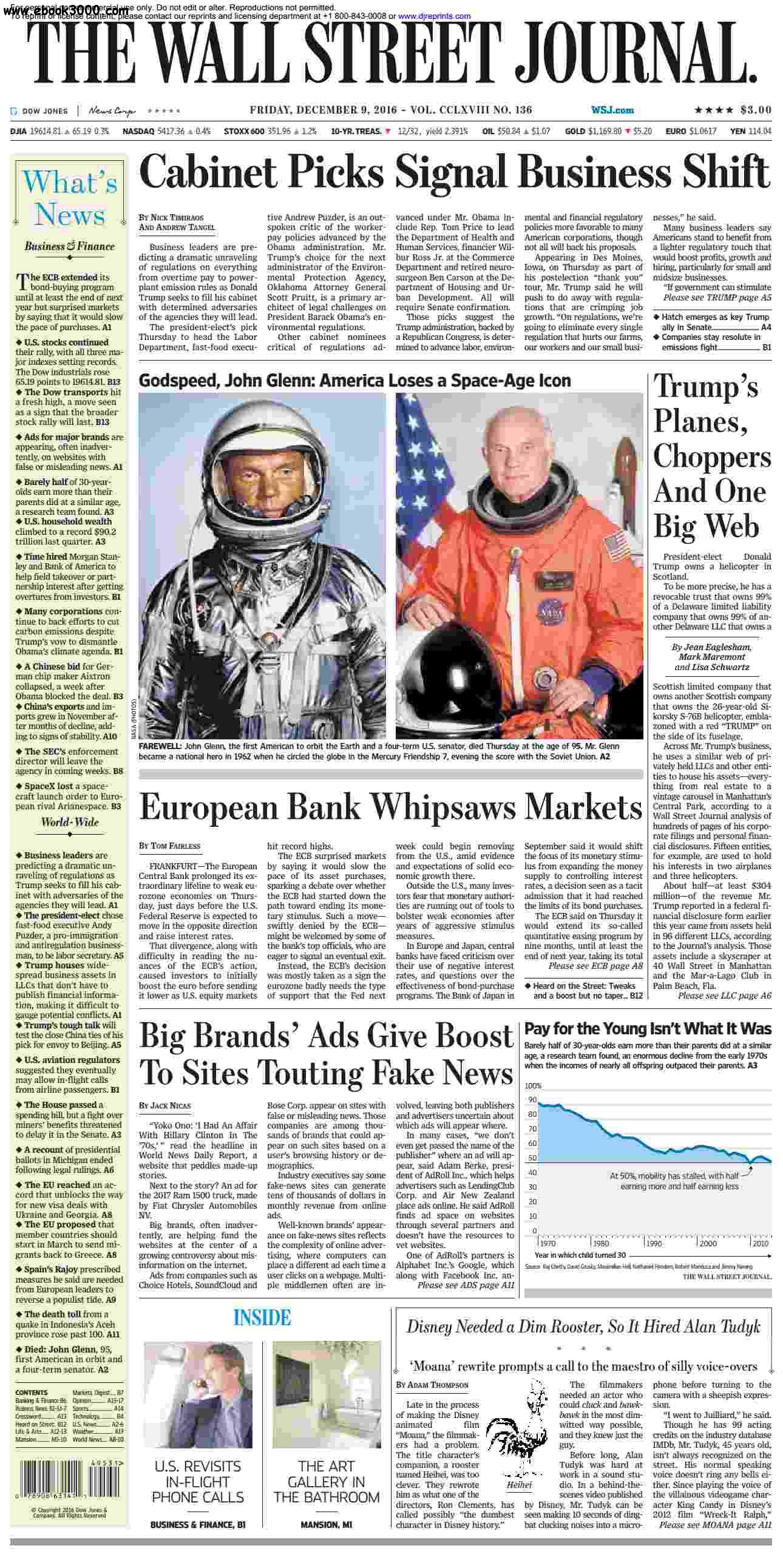 the wall street journal january 16 Get the latest the wall street journal news, analysis and video updates from marketwatch 16, 2018 - by jessica donati secretary of state mike pompeo arrived in riyadh on tuesday for uber technologies inc recently received proposals from wall street banks valuing the ride-hailing.