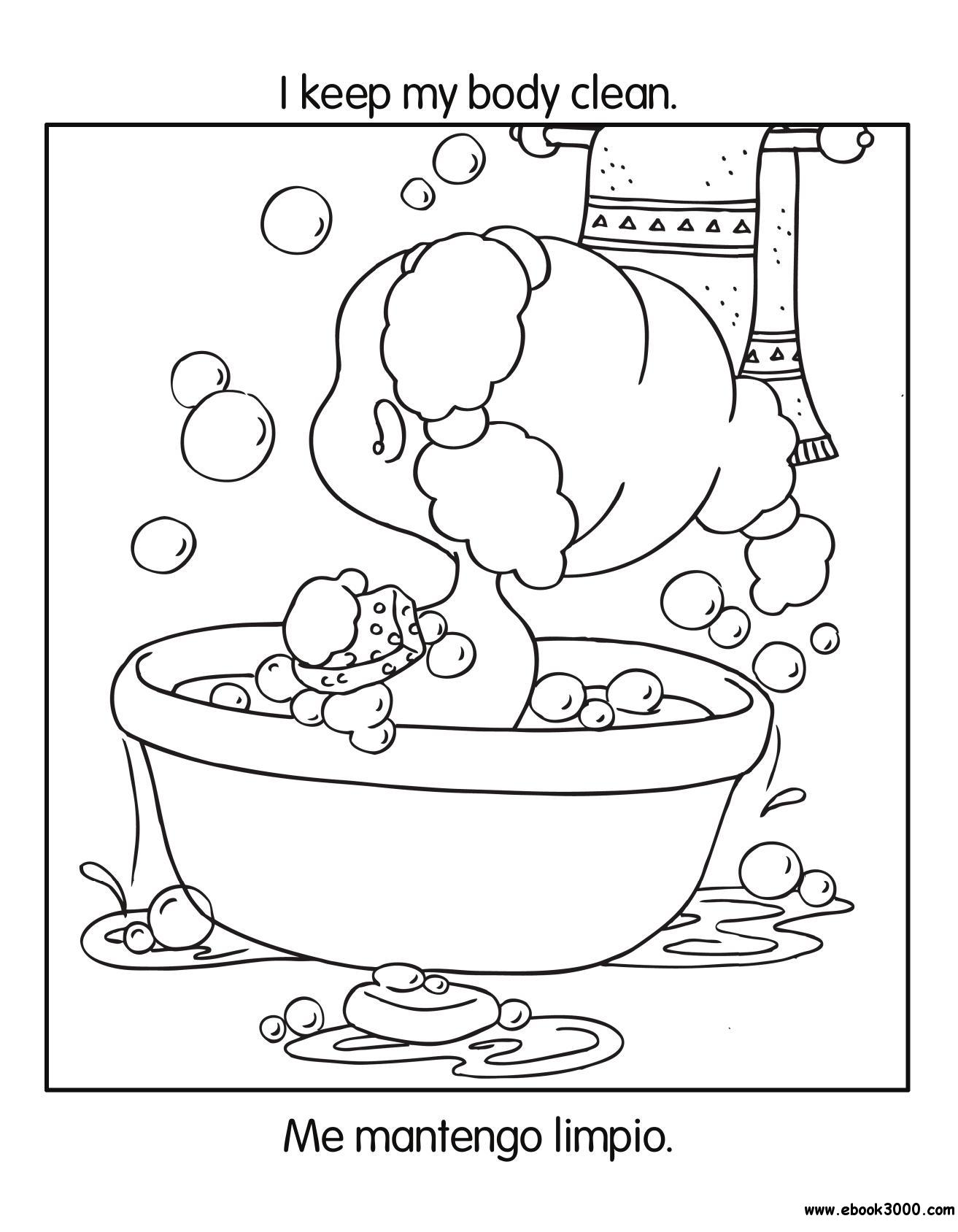 Good Habits Coloring Book Health and Nutrition Free