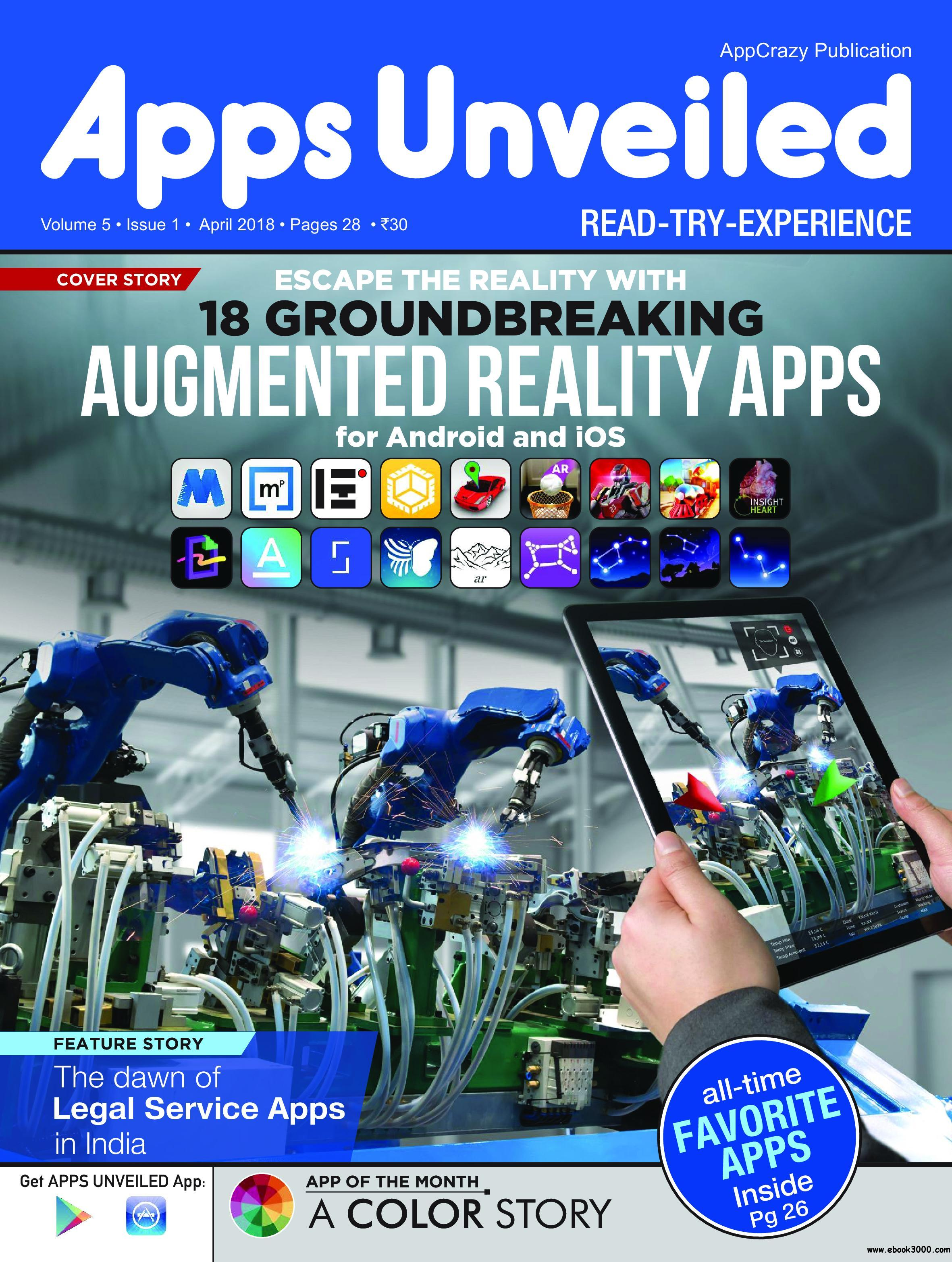 Apps Unveiled April 2018 Free Ebooks Download