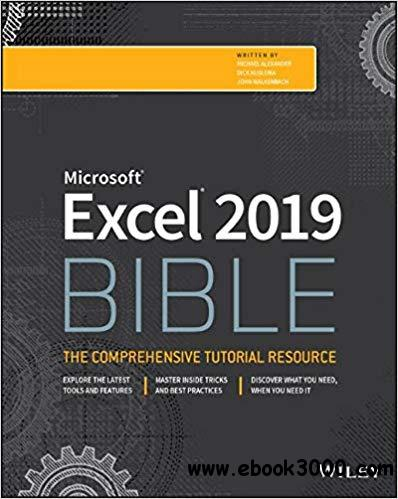 Excel 2019 Bible - Free eBooks Download