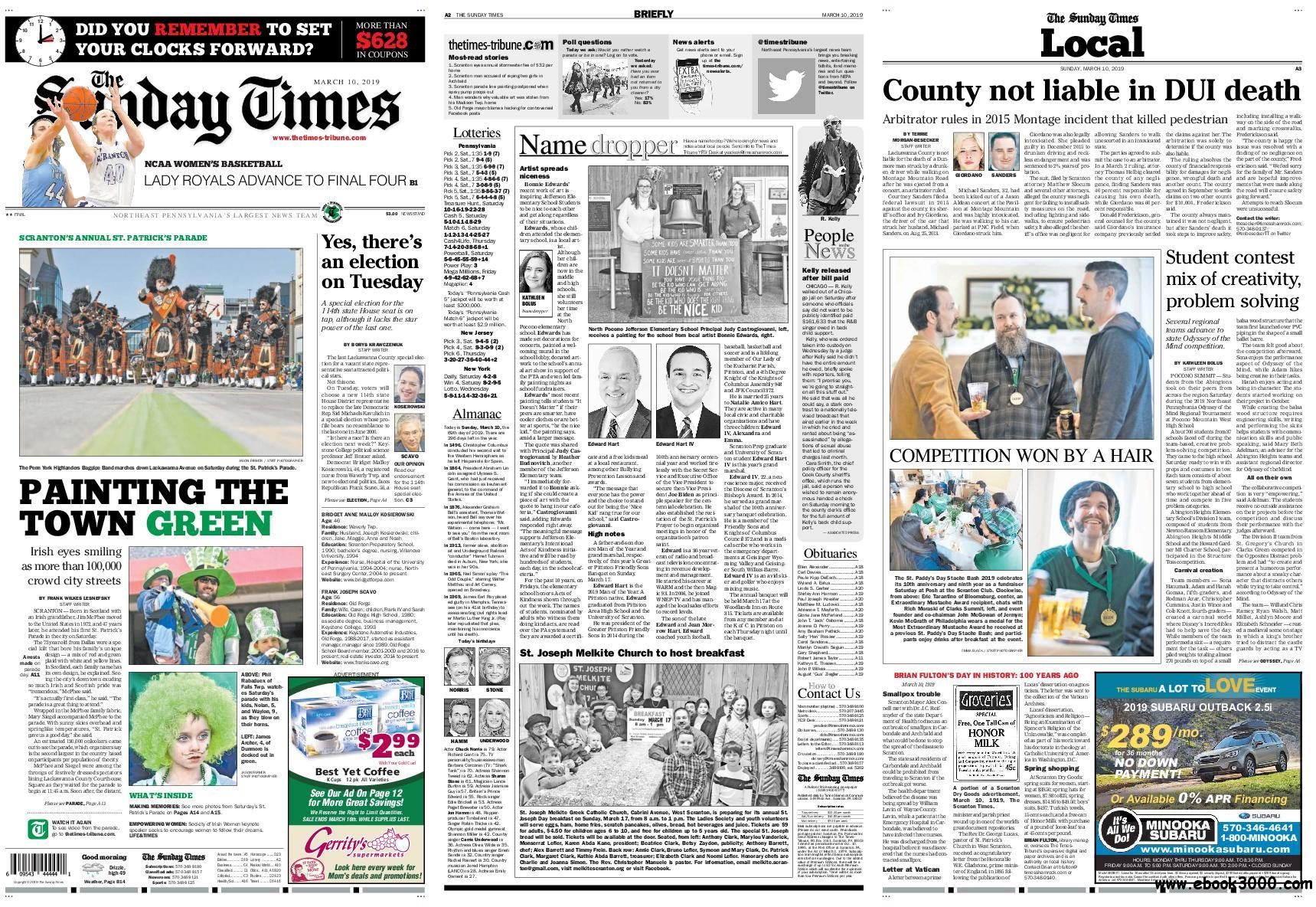 The Times-Tribune - March 10, 2019