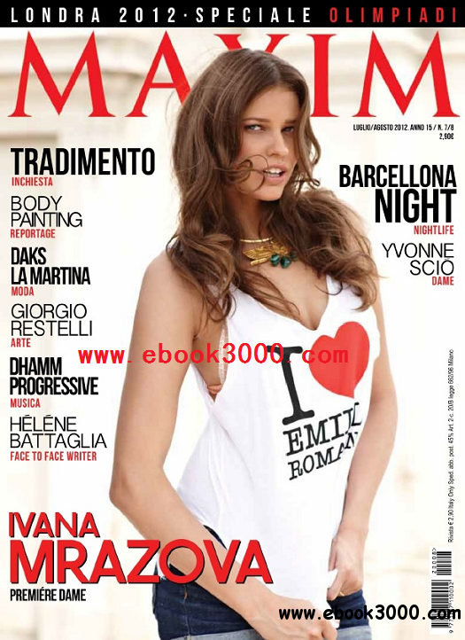 Maxim Italy - July / August 2012 free download