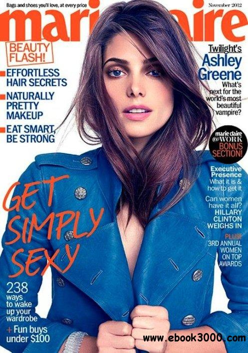 Marie Claire USA - November 2012 free download
