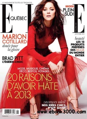 Elle Quebec - January 2013 free download