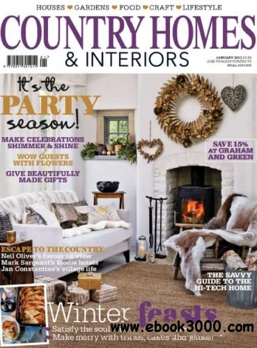 Country Homes and Interiors UK - January 2013 free download