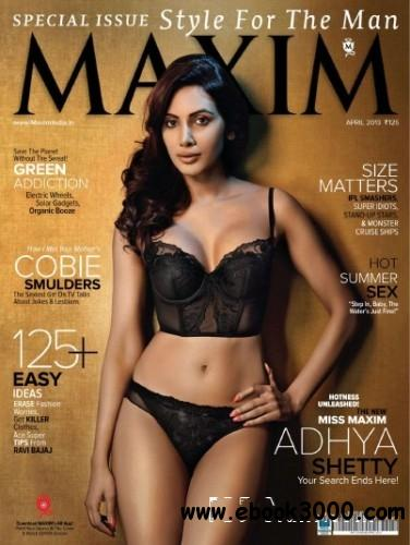 Maxim India - April 2013 free download