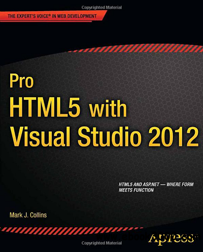 Pro HTML5 with Visual Studio 2012 free download