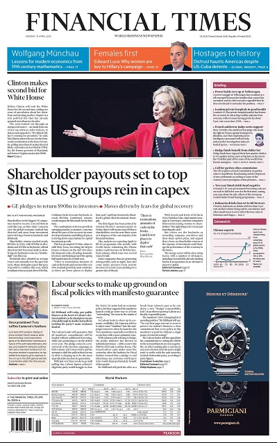 Financial Times UK  April 13, 2015 free download