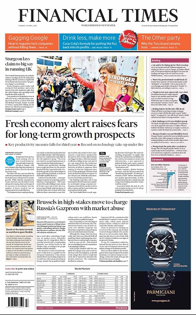 Financial Times UK  April 21, 2015 free download