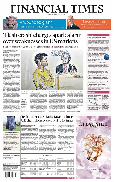 Financial Times UK  April 23, 2015 free download