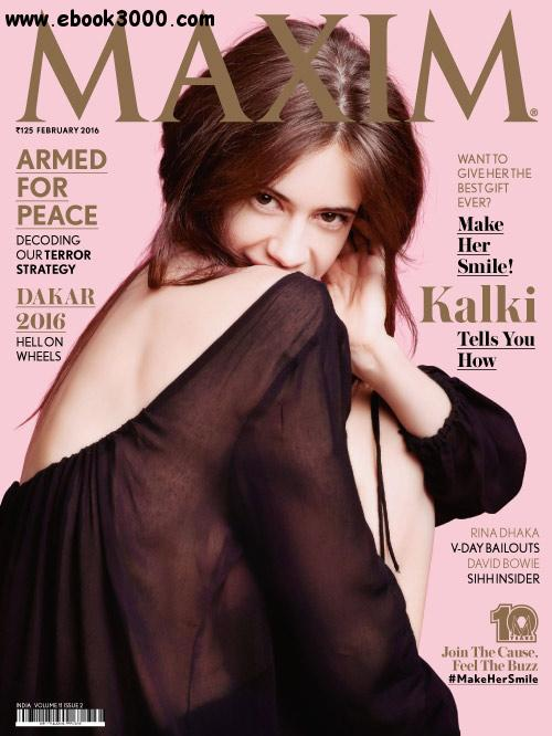 Maxim India - February 2016 free download